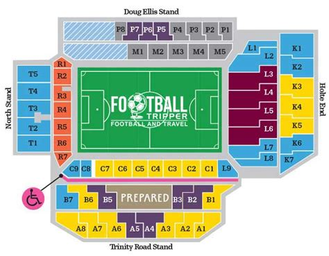 molineux stadium seating plan villa park stadium aston villa guide football tripper
