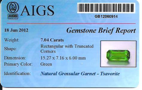 gem certification at ajs gems