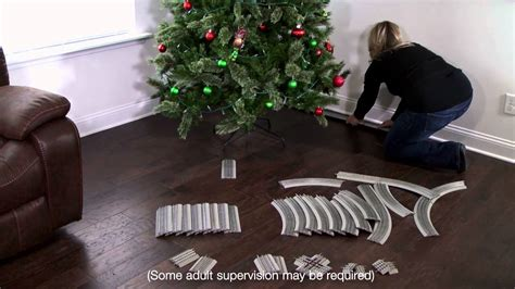 setting up christmas tree easy tree track set up