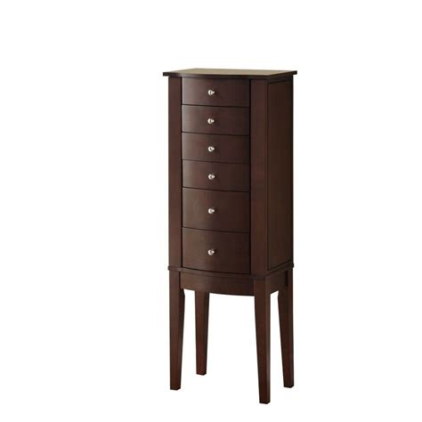 powell armoire powell merlot jewelry armoire 398 315 the home depot