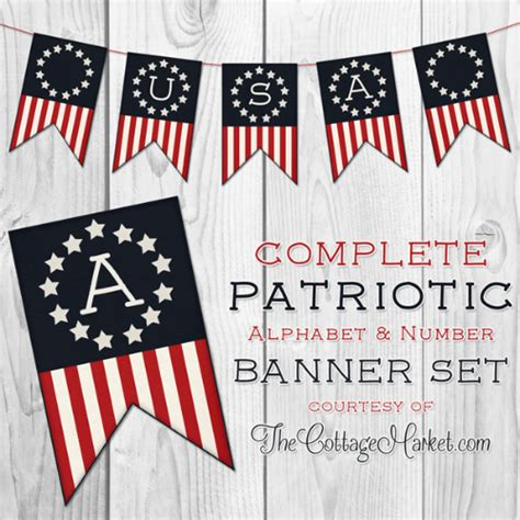free printable usa banner 12 free 4th of july printables signs games banners