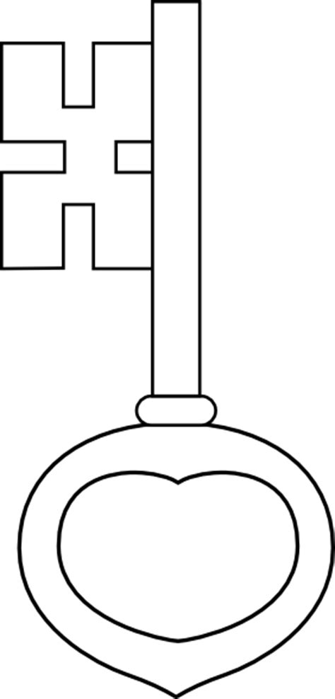 Key Outline Clip Free by Key Outline Coloring Pages