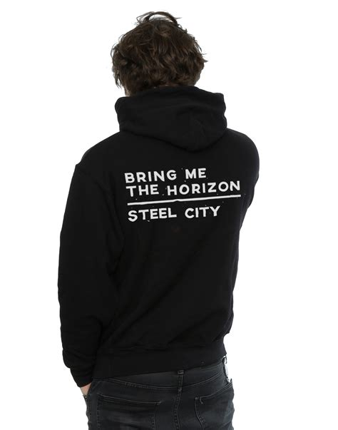Zipper Bmth New Logo bring me the horizon s distorted logo zip up hoodie