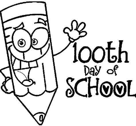 100 days of school coloring pages wecoloringpage
