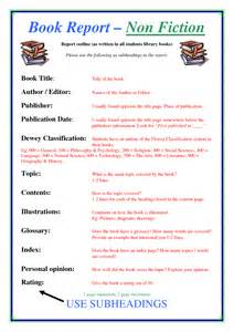 Non Fiction Book Report High School by Essays About Non Fiction