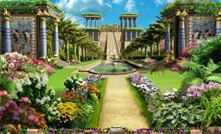 hanging gardens of babylon did this ancient of the