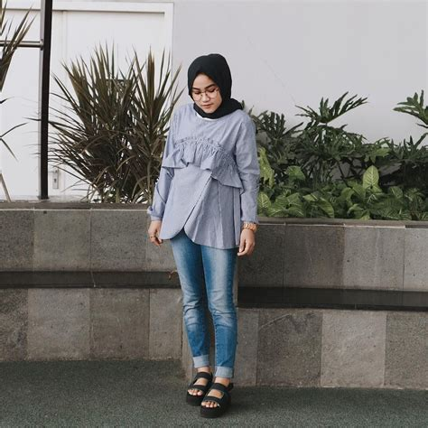 Hasna Tunik Top baju remaja berhijab ala selebgram 2018 top blouse