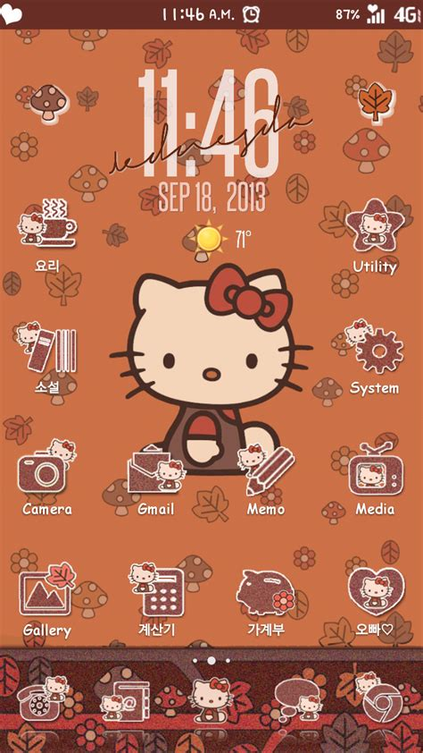 hello kitty autumn wallpaper hello kitty fall wallpaper wallpapersafari