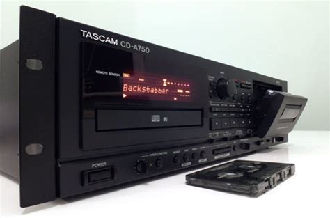 cd and cassette player decks and plugs and rock and roll tascam cd a750 cassette