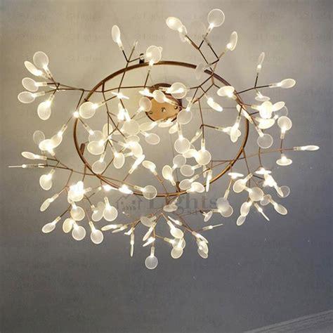 Decorative Light Fixtures Creative Twig Led Decorative Lights Glowworm Shaped 41 7 Inch Diameter