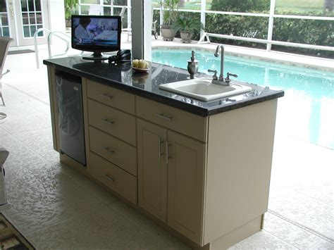 outdoor kitchen table with sink how to clear outdoor kitchen sink