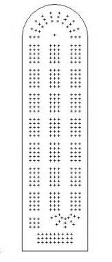 Printable Cribbage Board Template by Sorta Ot Cribbage Board Dxf Dwg File