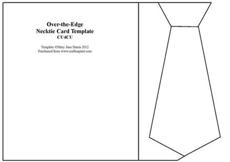 tie template for card the edge necktie card template cu4cu cup322943 99