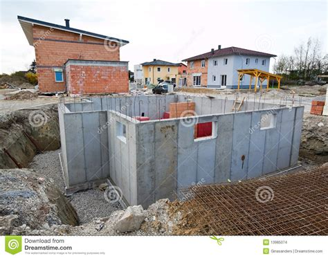 townhouses of a residential building basement for stock