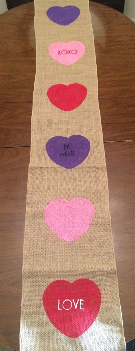 valentines day table runner valentines day table runner s day burlap table