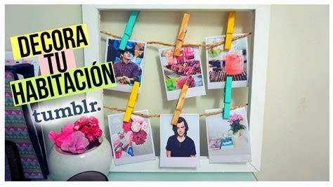ideas para decorar una habitacion tumblr como hacer fotos polaroid decora tu habitaci 211 n tumblr
