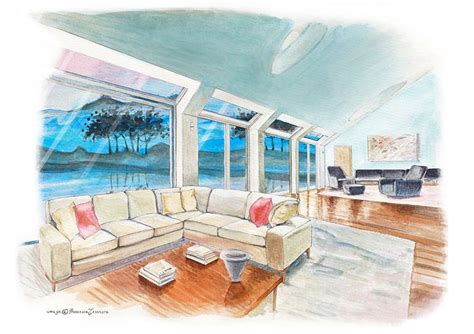What Won A Penthouse Loft by Interior Penthouse Loft Sketch Interiors