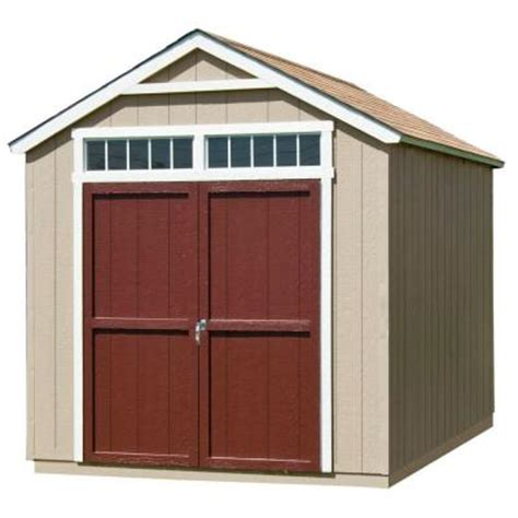 Home Depot Wooden Sheds by Handy Home Products Majestic 8 Ft X 12 Ft Wood Storage