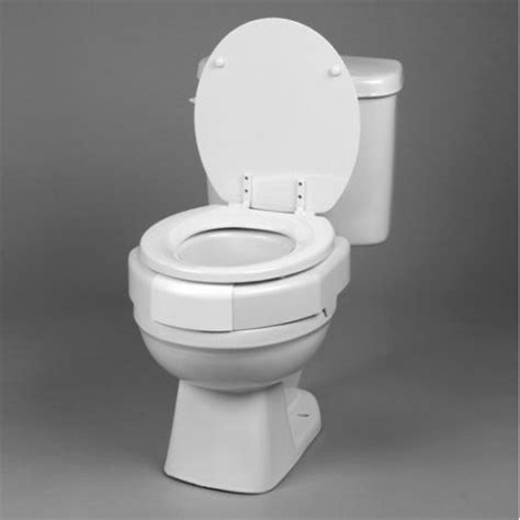 secure toilet seat ableware secure bolt elevated toilet seat walmart