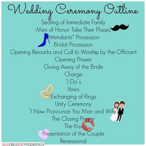 wedding ceremony outline let s get hitched