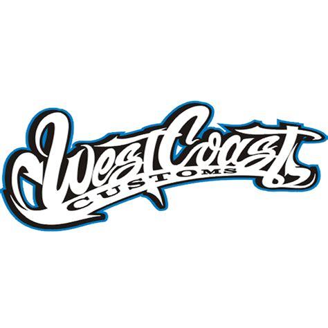 west coast customs logo font