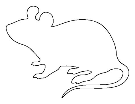 mouse silhouette template mouse pattern use the printable outline for crafts