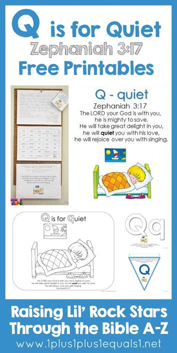 Bible Character With Letter Q Bible Verse Printables Letter Q 1 1 1 1