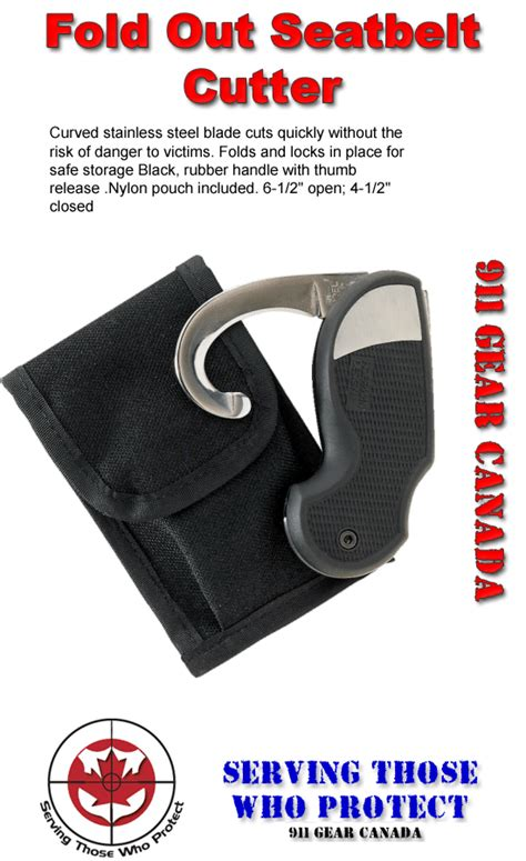 seat belt cutter knife 911 gear seatbelt cutter