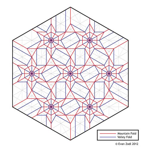 Origami Tessellation Diagrams - flower tessellation ez origami