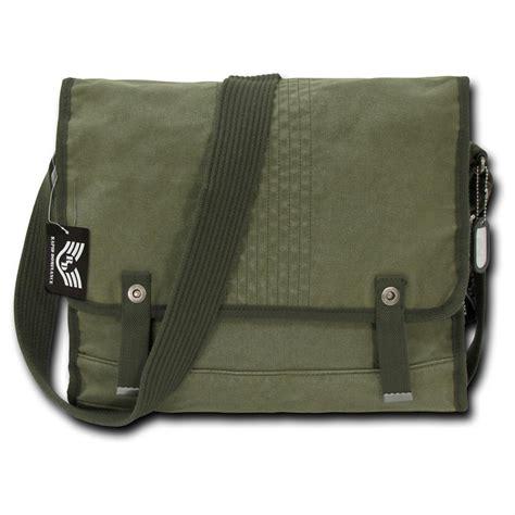 rapid dominance vintage messenger bag olive