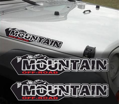 mountain jeep decals product pair of mountain off road wrangler decal set jeep
