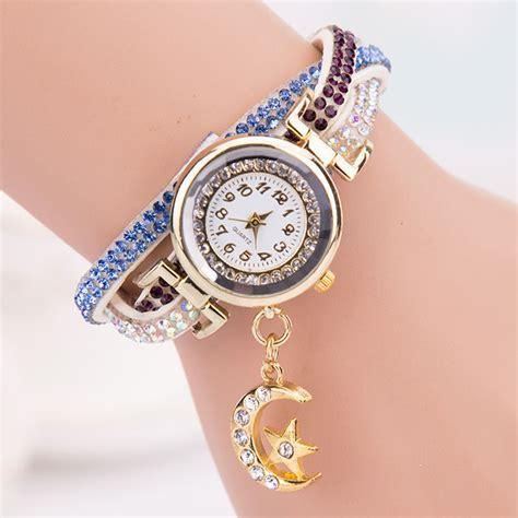 womens band wave quartz analog wrap bracelet wrist