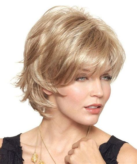 feathered haircuts for round faces 51 best wigs images on pinterest