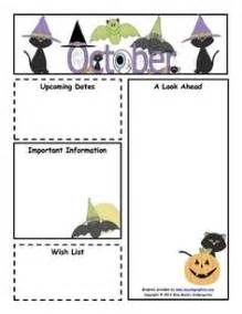october preschool newsletter template 1000 ideas about monthly newsletter template on