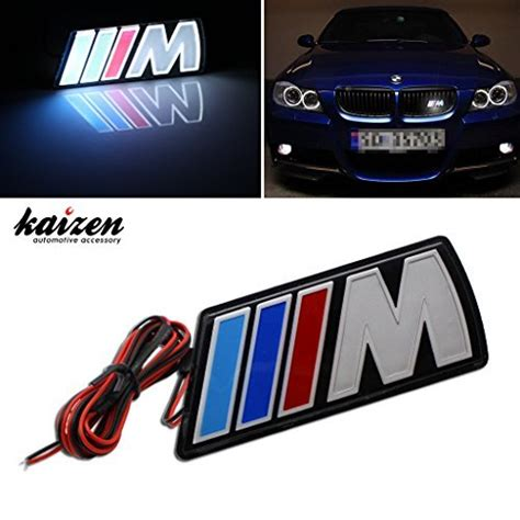 Bmw Germany M Badge M Power M3 Front Grille Grill Car Emblem kaizen m power led illumine front emblem front grille badge import it all