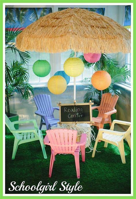 reading center themes luau theme schoolgirlstyle
