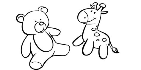 imagenes de jirafas a blanco y negro imprimir animales de peluche dibujos para colorear