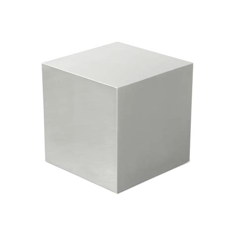 Stainless Steel Cube   Accent Tables   Gus* Modern