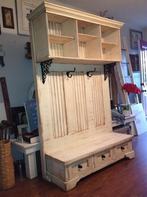 diy woodworking hall bench plans   simple wood