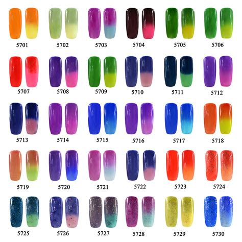 color changing nails 10ml temperature change color gel nail 9046 elite99