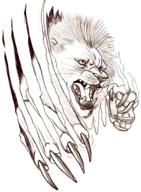 tattoo design paper awesome lion claw tattoo design on paper tattooshunter com
