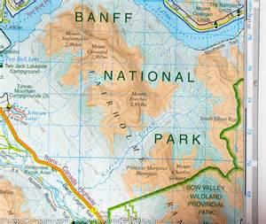 Banff Canada Map by Banff National Park Amp Mount Assiniboine Gem Trek