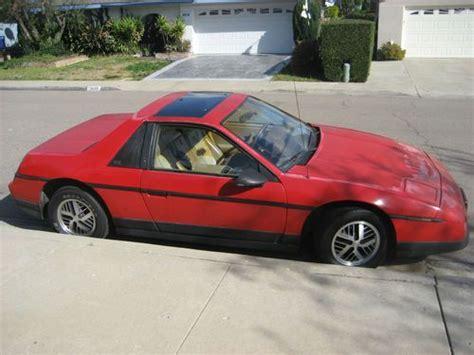 where to buy car manuals 1986 pontiac fiero regenerative braking find used 1986 pontiac fiero se coupe 2 door 2 8l v6 in san diego california united states