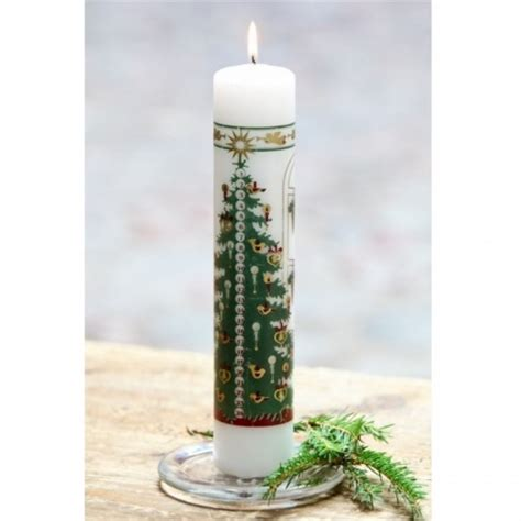 white advent pillar candles christmas tree