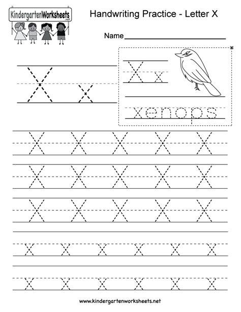 printable preschool handwriting worksheets letter x handwriting practice worksheet this series of