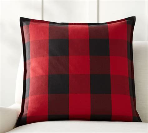 plaid throw pillows couch buffalo check plaid pillow cover pottery barn