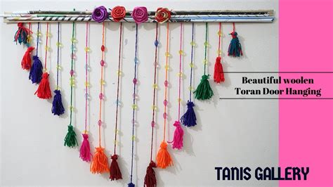 Handmade Toran Designs - diy beautiful woolen toran door hanging handmade