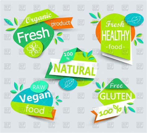 Stiker All You Need Is Food Dapur Resto Rumah Kaca Dinding Sticker set of fresh healthy food labels vegan food emblems food icons royalty free vector