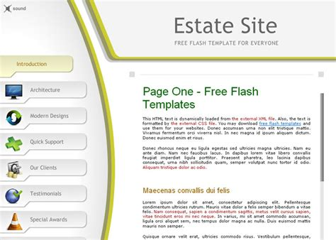 free flash site templates 10 free flash website templates for business freebie