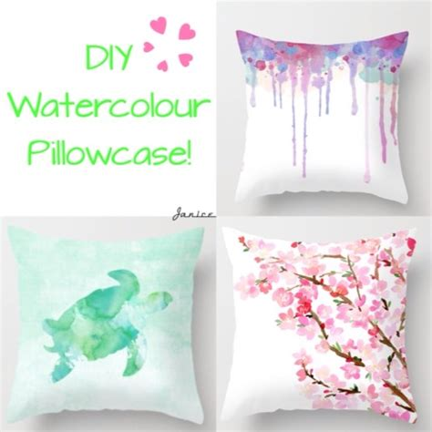 Fabric Painting Designs For Pillow Cases by Diy Watercolour Pillowcase Musely